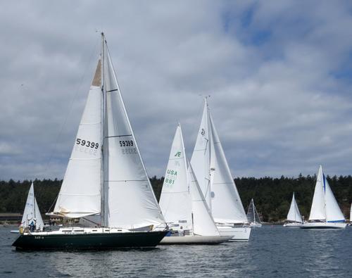 43 Boats Finish Shaw Island Race