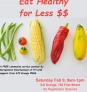 March 2: Free Community Seminar: Food – Eat Healthy for Less $$ - DATE CHANGED