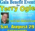 Tickets on sale now for Aug. 29 Gala Benefit for Terry Ogle